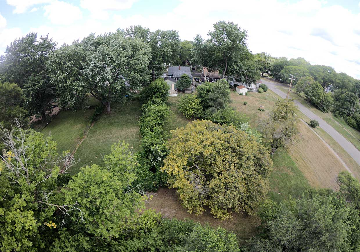 House Yard aerial view from GOPRO421