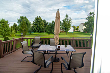 Real Estate photo of home outdoor deck by Aerotech Photography September 2019